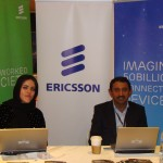 The Ericsson team at the event