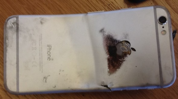 Apple-iPhone-6-bends-and-catches-on-fire