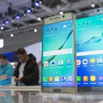 Samsung smartphones Galaxy S6 edge+ are pictured at the consumer electronics trade fair IFA in Berlin