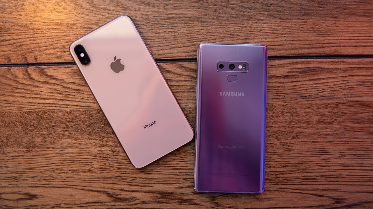 iPhone XS Max vs galaxy note 9 samsung vs apple