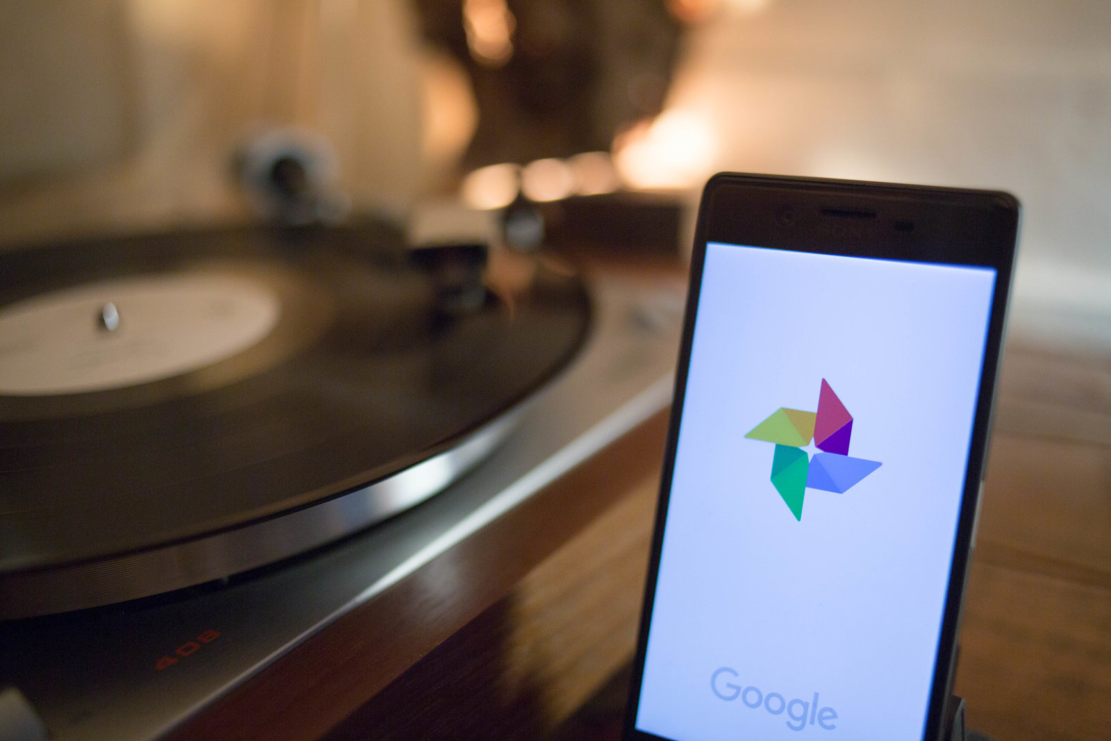 The Google Photos application seen displayed on a Android